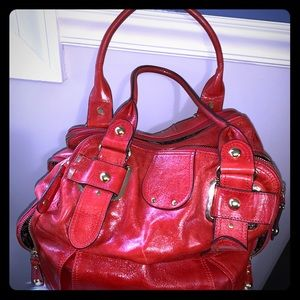 Hype Red/orange hobo with multiple compartments